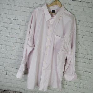 Joseph Feiss Dress Shirt Mens 22 Tall Pink